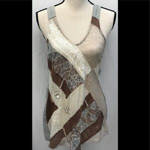 Tiny Anthropologie Lace Sequin Tank Top M
